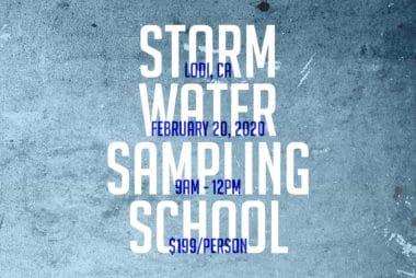 SIGN UP: Storm Water Sampling School